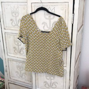 Zara short sleeve blouse